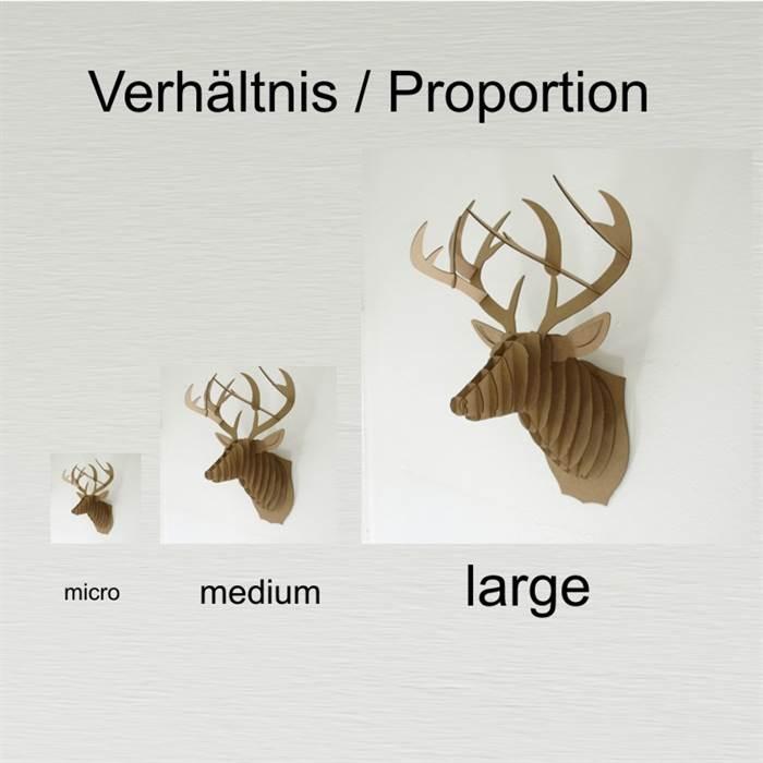 Cardboard Safari Größenvergleich
