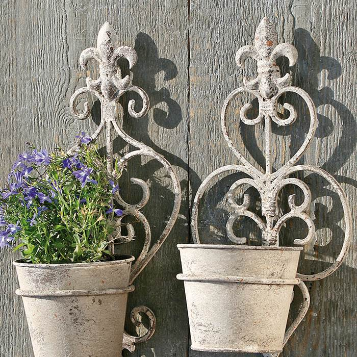 Wand Blumentöpfe im Used Look