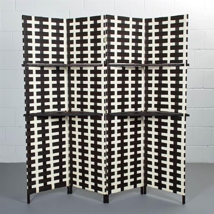 Vierteiliger Raumteiler mit Ablagefläche