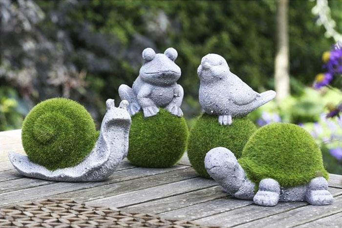 Lustige Deko Figuren für den Garten