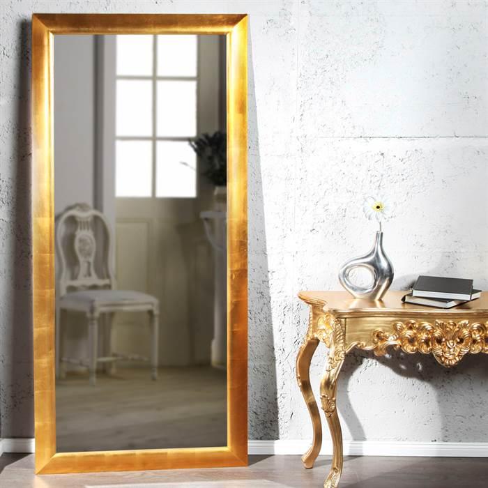 Großer Luxus Wandspiegel in gold