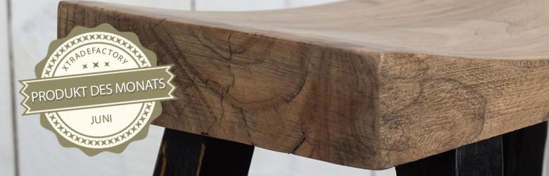 Puristischer Design Holz Hocker