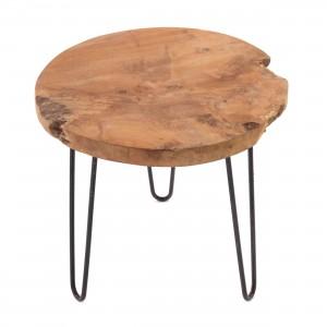Beistelltisch MOTUTAPU passt perfekt zu sämtlichen Holzhockern.